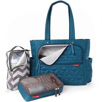 Bolsa Maternidade (Diaper Bag) com Trocador - Forma Pack & Go Peacock - Skip Hop