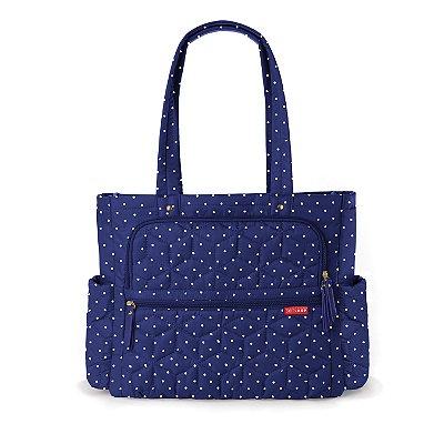 Bolsa Maternidade (Diaper Bag) com Trocador - Forma Pack & Go Navy Dot - Skip Hop