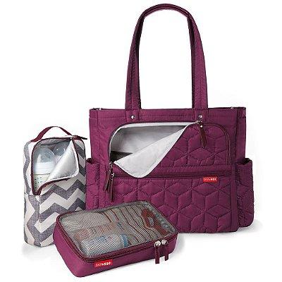 Bolsa Maternidade (Diaper Bag) com Trocador - Forma Pack & Go Berry - Skip Hop