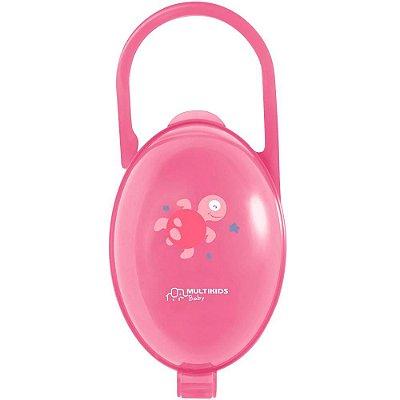 Porta Chupetas Paci Clean Tartaruga Rosa - Multikids Baby
