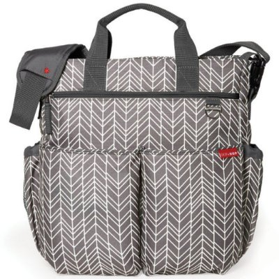 Bolsa Maternidade (Diaper Bag) com Trocador - Duo Signature Grey Feather - Skip Hop