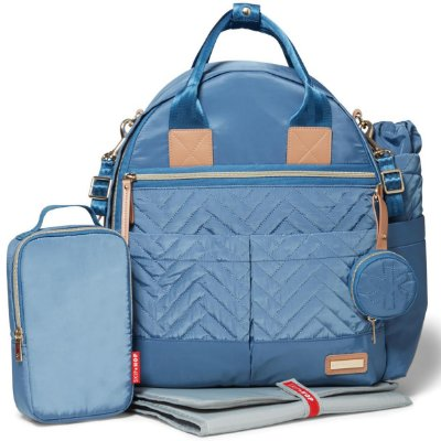 Bolsa Maternidade (Diaper Bag) com Trocador - Suite BackPack 6 peças (Mochila) Dusk Blue - Skip Hop