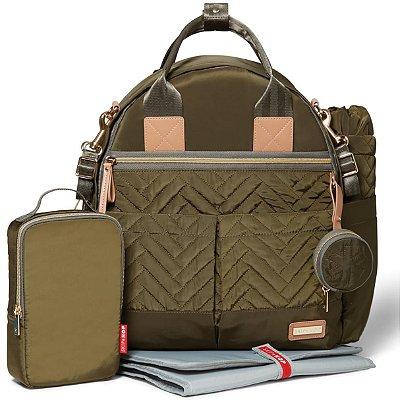 Bolsa Maternidade (Diaper Bag) com Trocador - Suite BackPack 6 peças (Mochila) Olive - Skip Hop