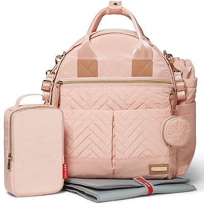 Bolsa Maternidade (Diaper Bag) com Trocador - Suite BackPack 6 peças (Mochila) Blush - Skip Hop