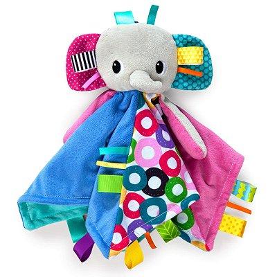 "Naninha Elefante ""Taggies Blanket"" - Bright Stars"