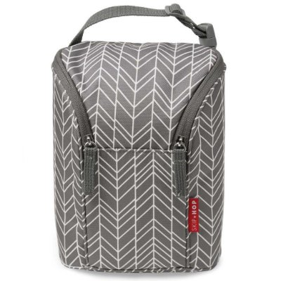 Bolsa Térmica para Mamadeira - Double Bottle Bag (On the Go) Grey Feather - Skip Hop