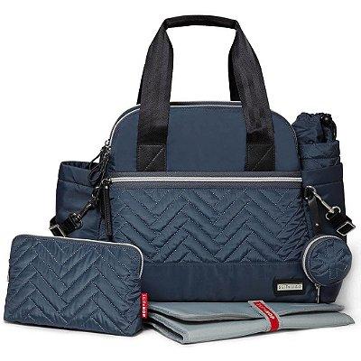 Bolsa Maternidade (Diaper Bag) com Trocador - Suite Satchel 6 peças Steel Grey - Skip Hop