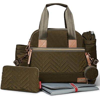 Bolsa Maternidade (Diaper Bag) com Trocador - Suite Satchel 6 peças Olive - Skip Hop