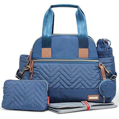 Bolsa Maternidade (Diaper Bag) com Trocador - Suite Satchel 6 peças Dusk Blue - Skip Hop