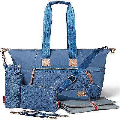 Bolsa Maternidade (Diaper Bag) com Trocador - Suite Tote 7 peças Dusk Blue - Skip Hop