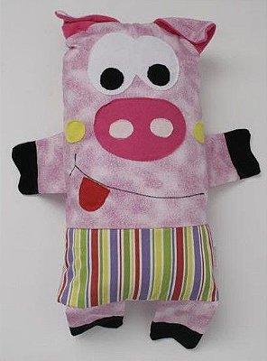 Naninha Porquinha Colorida - Colo de Mãe