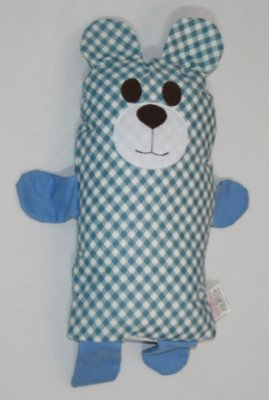 Naninha Urso Azul Xadrez - Colo de Mãe