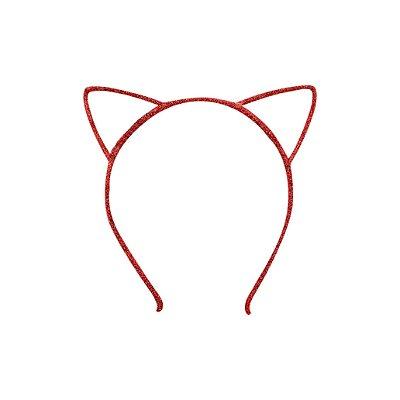 Tiara Infantil de Gatinho Vermelho - Gumii