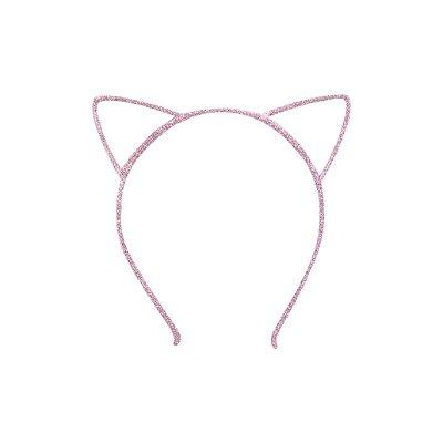 Tiara Infantil de Gatinho Rosa - Gumii