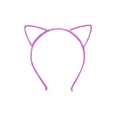 Tiara Infantil de Gatinho Rosa Pink - Gumii