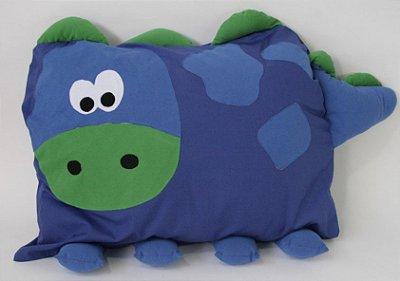Travesseiro Infantil Dinossauro Azul - Colo de Mãe
