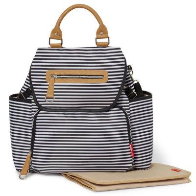 Bolsa Maternidade (Diaper Bag) com Trocador - Grand Central BackPack (Mochila) Black White Stripe - Skip Hop
