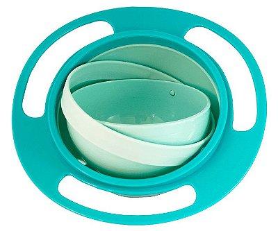 Prato Mágico Giratório 360 graus para Bebês e Crianças - Verde