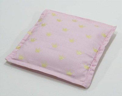 Almofada Térmica de Ervas Naturais para Alívio das Cólicas e Gases Coroa Rosa - Bebê sem Cólica
