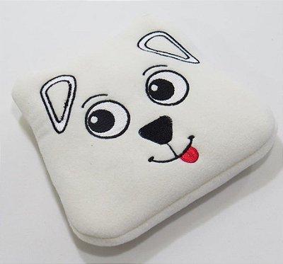 Almofada Térmica de Ervas Naturais para Alívio das Cólicas e Gases (Pelúcia) Cachorro Bege - Bebê sem Cólica