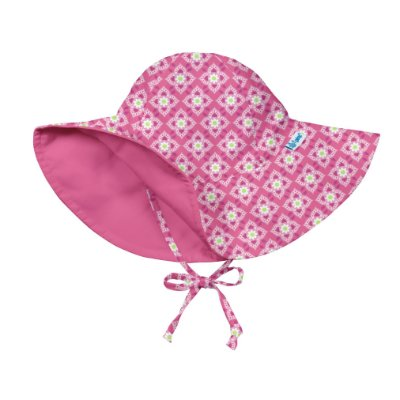 Chapéu de Banho Infantil com FPS +50 Flores Diamond - iPlay
