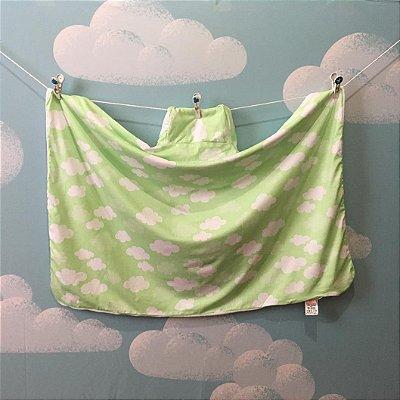 Toalha Infantil (Tamanho Grande) Nuvem Verde - Colo de Mãe