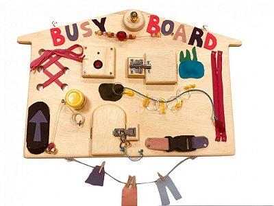 Busy Board Casinha - Painel de Atividades para Bebês - Baby and Me