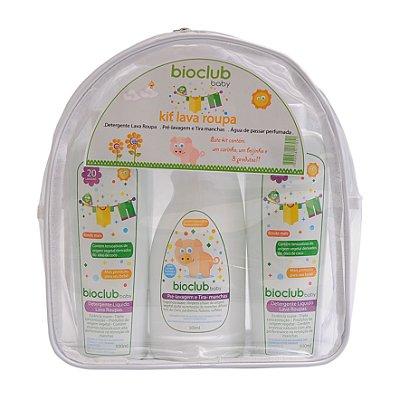 Kit Necessaire Lava Roupas (Detergente + Tira Manchas + Água de Passar) - Bioclub Baby