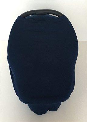 Capa Multifuncional para Mamãe e Bebê (5 funções) Azul Marinho - Colo de Mãe