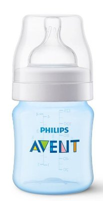 Mamadeira Clássica Anti-Cólica 125ml 0+ Meses Azul - Philips Avent