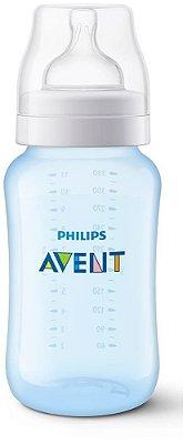 Mamadeira Clássica Anti-Cólica 330ml 3+ Meses Azul - Philips Avent