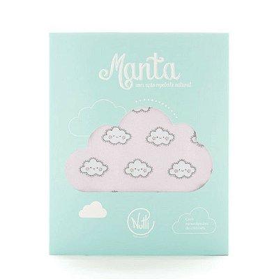 Manta Protetora com Repelente Nuvem Rosa - Nutti