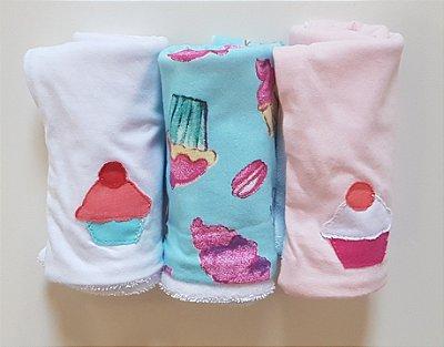 Pano de Boca para Bebê (3 unidades) Docinhos - Colo de Mãe