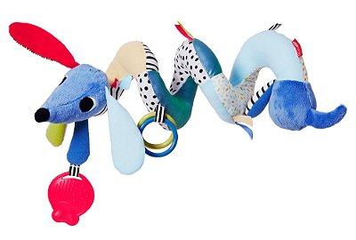 Pelúcia de Cachorro Musical em Espiral para Carrinho de Bebê Vibrant Village - Skip Hop