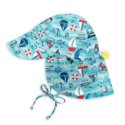 Chapéu de Banho Infantil Australiano com FPS +50 Barquinho - iPlay
