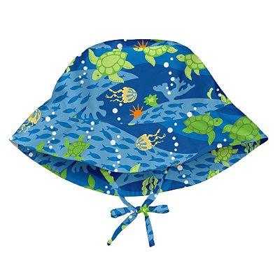 Chapéu de Banho Infantil com FPS +50 Tartaruga Marinha - iPlay