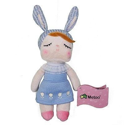 Mini Boneca Metoo Doll Angela Jardineira Azul - Metoo
