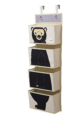 Organizador Infantil de Parede Urso - 3 Sprouts