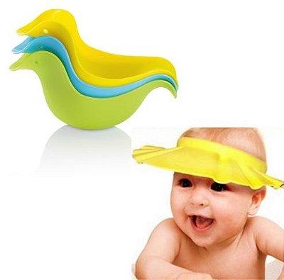 COMBO - Chapéu protetor de rosto + Patinhos de banho para Enxague