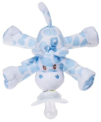 Paci Plushies Nookums Girafa Azul - Prendedor de Chupeta Universal