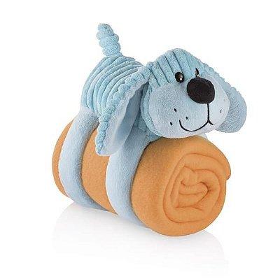 Cobertor Travesseiro e Bicho de Pelúcia Sleepy Pets Cachorro Azul - Multikids Baby