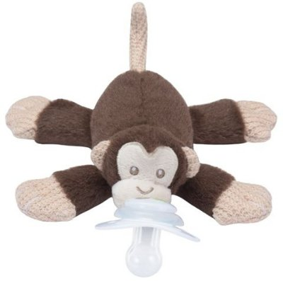 Paci Plushies Nookums Macaco - Prendedor de Chupeta Universal
