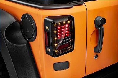 Lanterna Traseira Full LED Jeep Wrangler Mod Europeu 07-18