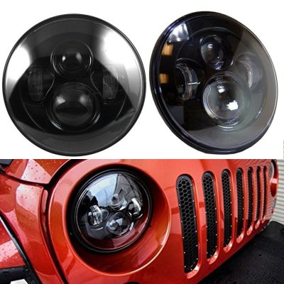 "FAROL FULL LED 7"" 50W JEEP WRANGLER,  DEFENDER E TROLLER"