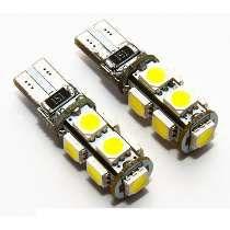 PAR LAMPADAS LED T10 W5W CANBUS/CANCELLER 9 LEDS SMD5050 6000K