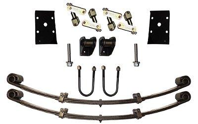 Kit Feixe de Molas Dianteiro Toyota c/ Jumelos Articulados / Revolver p/ Adaptar em Jeep - Somente para eixo dianteiro