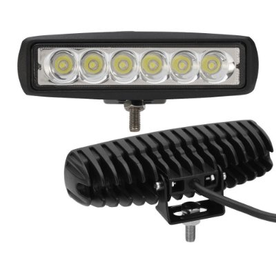 Barra Led Reta 18W Spot Epistar Leds