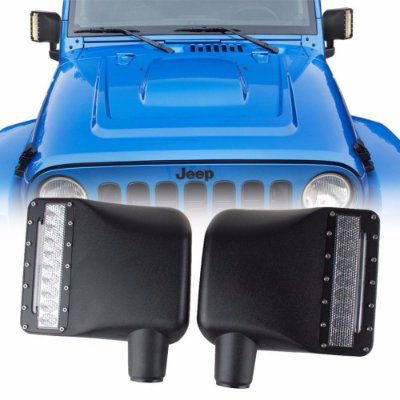 RETROVISOR PARA JEEP WRANGLER JK LED 27W