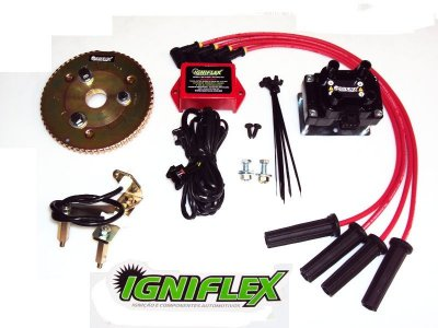 KIT IGNIFLEX GM OPALA 4C C/POLIA SIMPLES (01 canaleta) *GASOLINA*