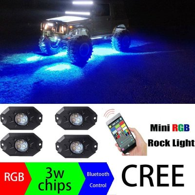 FAROL ROCK LIGHT RBG BLUETOOTH JEEP E BARCOS
